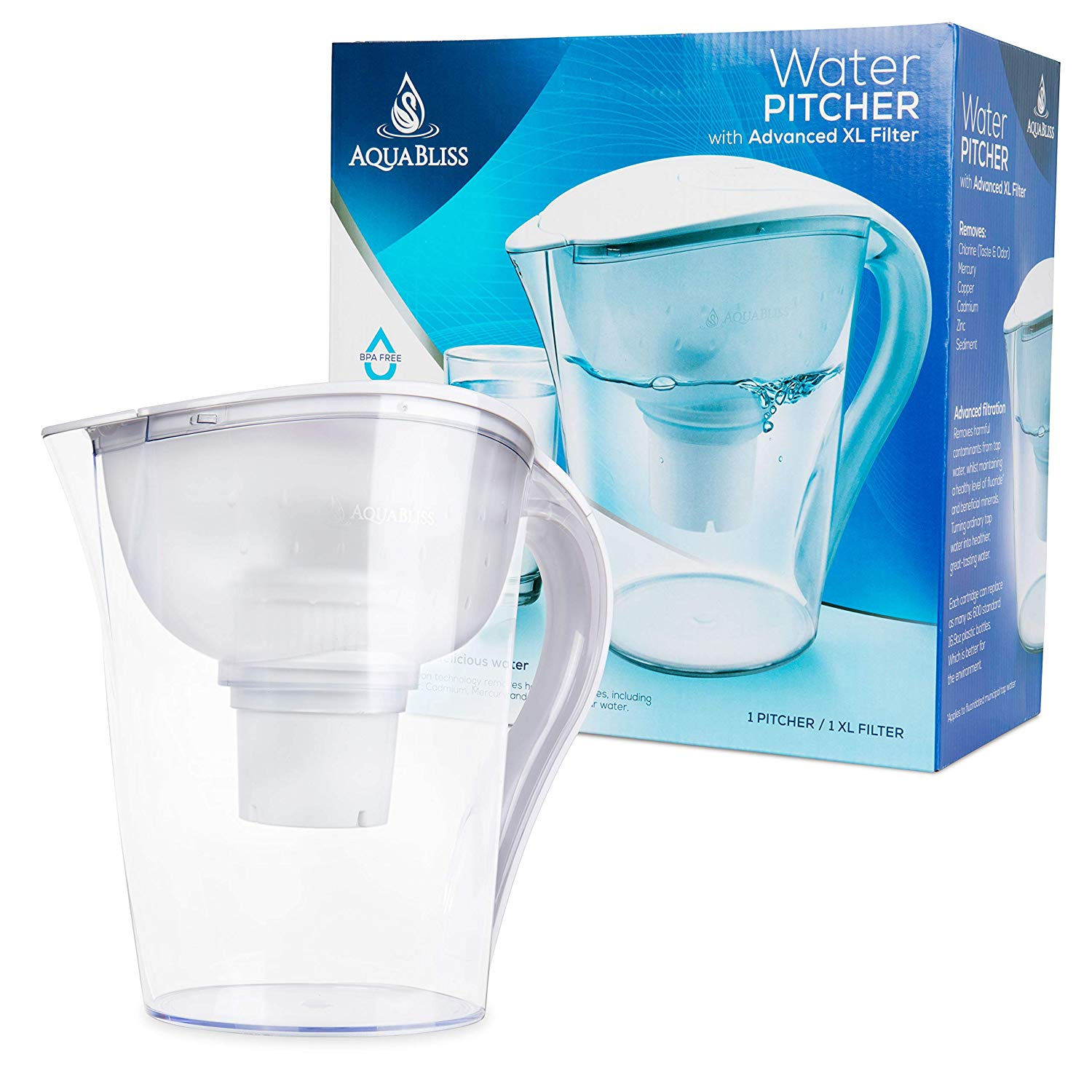 best water filter pitcher AquaBliss 10-Cup