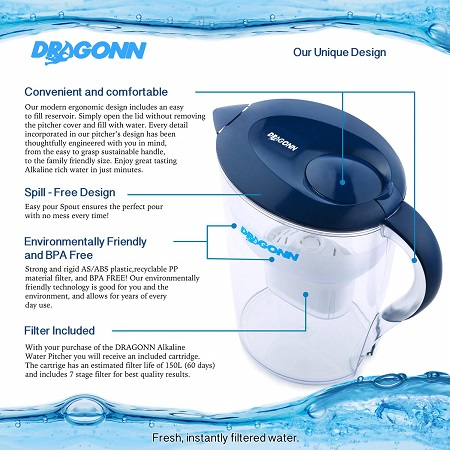 dragonn water pitcher filter