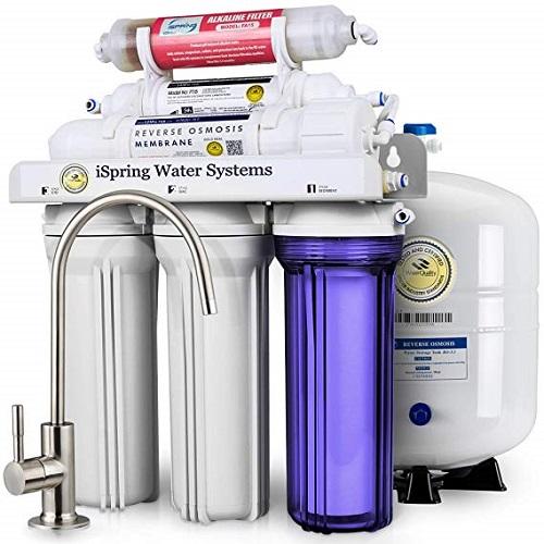best under sink water filter iSpring RCC7AK 6-Stage