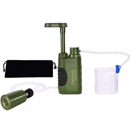 best portable water filter Purewell pump portable water filter