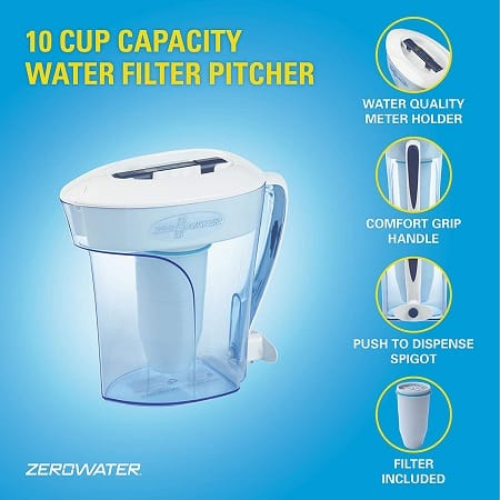 zero water filter pitcher features
